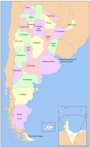 Le Province dell'Argentina